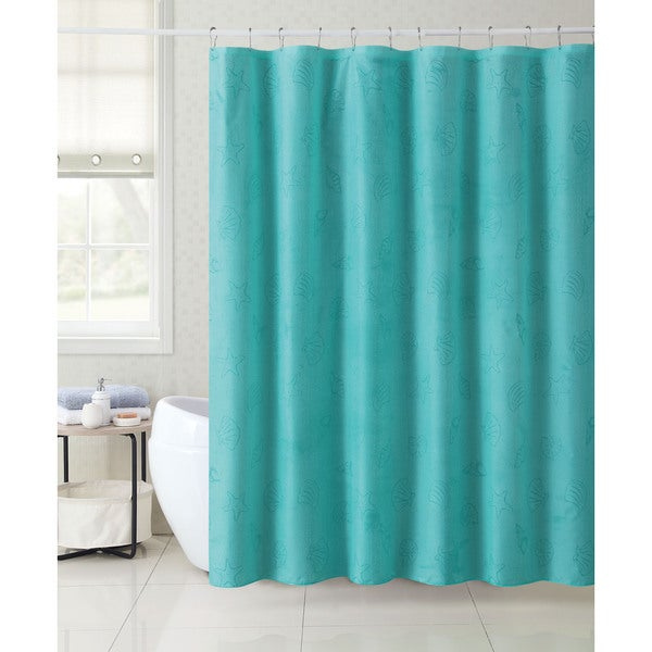 VCNY Mystic Shore Shell 13 Piece Shower Curtain Set