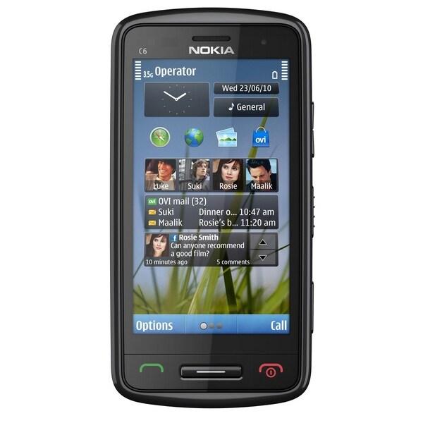 Nokia C6 C6-01 Unlocked GSM 3G Touchscreen Cell Phone - Dark Grey (Refurbished)