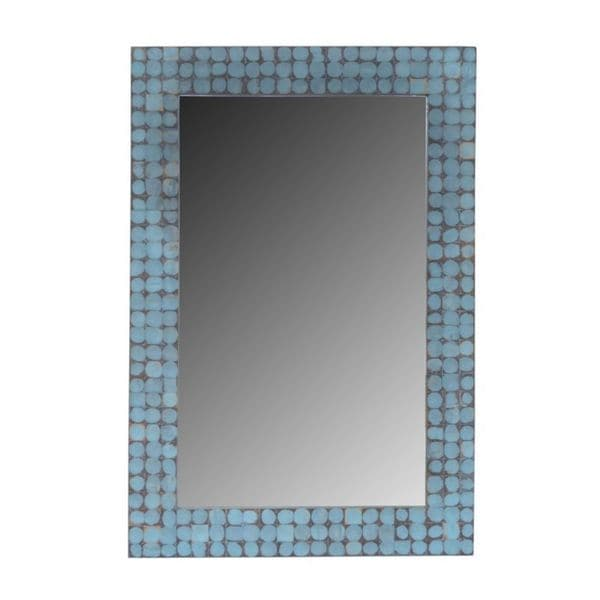 Ava Blue Cocomosaic Wall Mirror