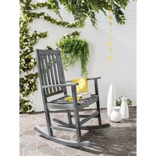 Safavieh Outdoor Living Barstow Ash Grey Rocking Chair
