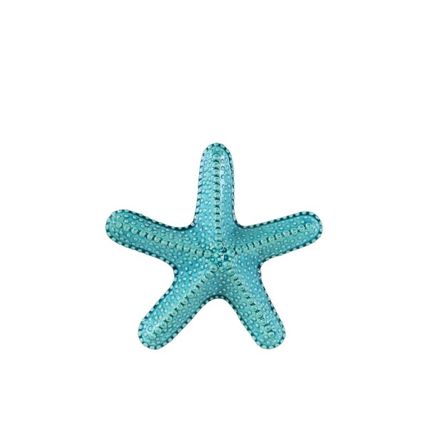 Gloss Finish Turquoise Ceramic Callous Sea Star Figurine Small