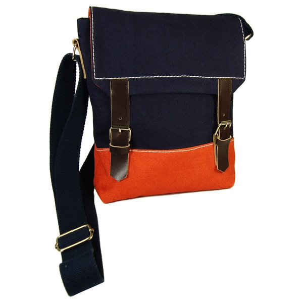 Canvas Mini Messenger Cross-body Bag