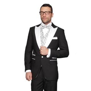 Natalie Black Men's Statement Suit Tuxedo