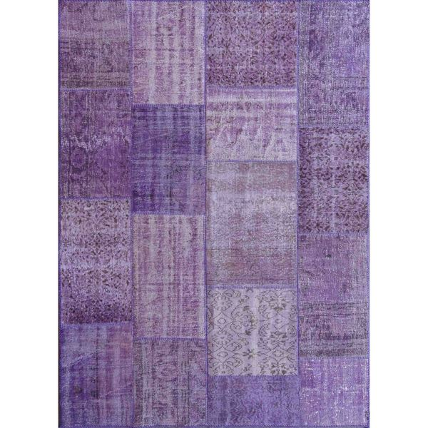 ABC Accent Vintage Turkish Overdyed Patchwork Purple Passion Rug (8' x 10')