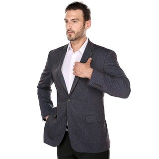 Verno Fonte Men's Urban Blue Classic Fit Italian Styled Blazer