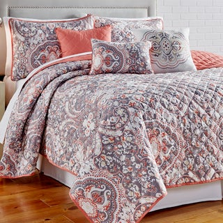 Selena 6 piece Printed Reversible Quilt Set