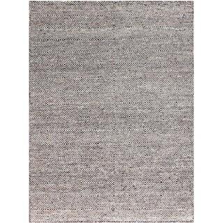 Brisbane Modern Hand-Woven Brown Wool and Silk Area Rug (8' x 10')