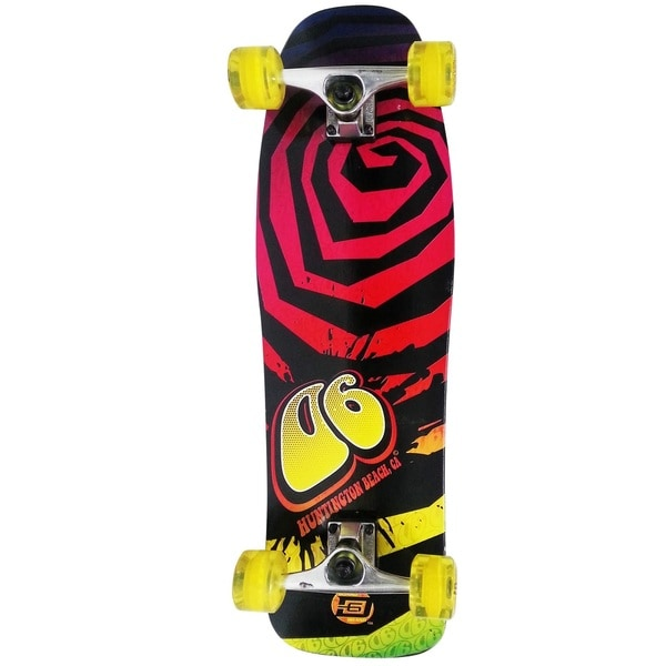 "D6 POOL SERIES 32"" SKATEBOARD - SWIRL - YELLOW"