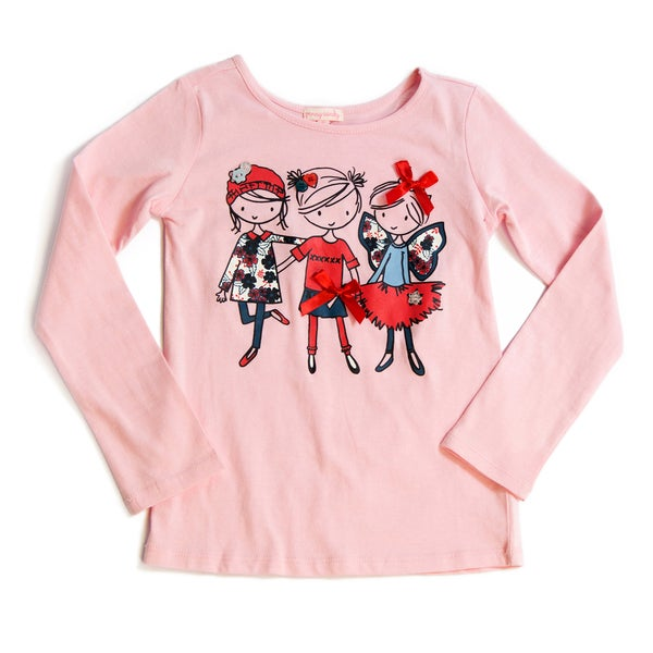 Downeast Outfitters Girl's Long-Sleeve Graphic T-Shirt
