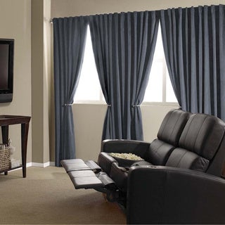 Velvet Blackout Home Theater Curtain Panel