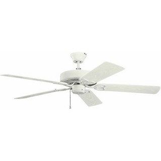 Kichler Basics Patio 52-Inch Ceiling Fan, Satin Natural White Finish with Blades