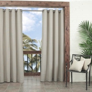 Key Largo Solid Indoor/Outdoor Curtain Panel