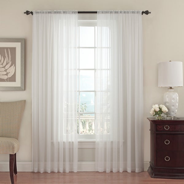 Textured Chiffon Sheer Curtain Panel