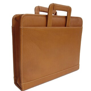 Piel Leather Three-Ring Binder with Handle