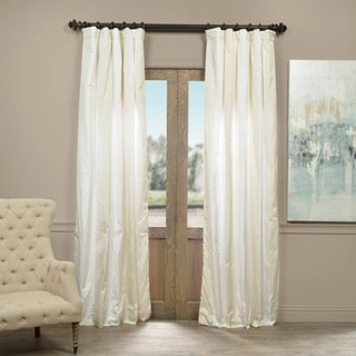 Exclusive Fabrics Iceland Faux Silk Taffeta Stripe Curtain Panel