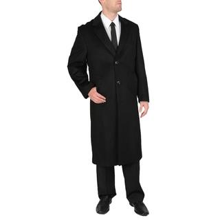 Jacques Bellini Men's Black Howard Wool Cashmere Long Overcoat