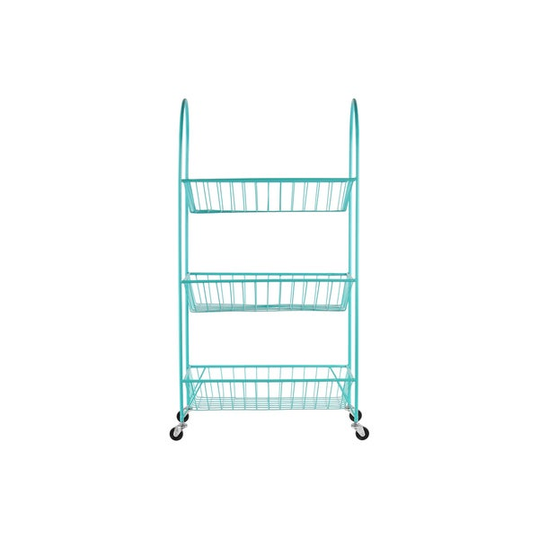 Urban Trends Blue Metal Cart