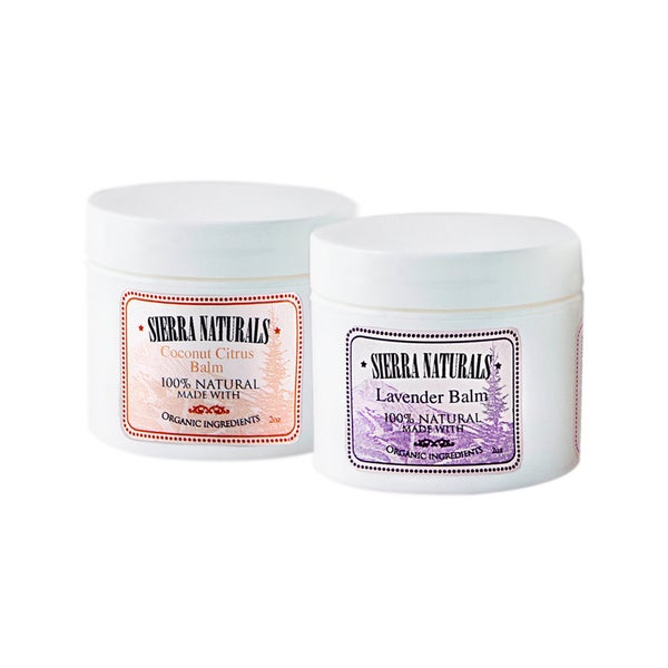Sierra Naturals Handmade Organic Scented Coconut Citrus and Lavender Balms (Set of 2)