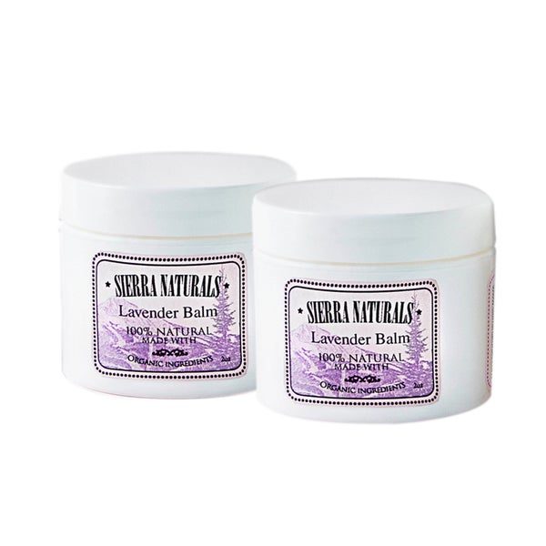 Sierra Naturals Handmade Organic Scented Lavender Balms (Pack of 2)