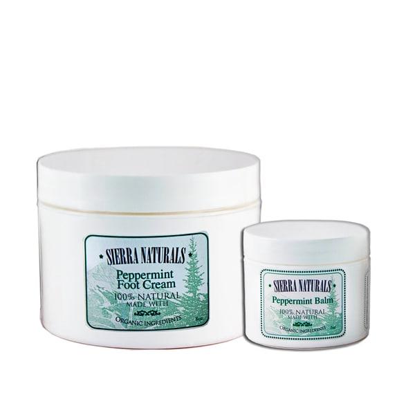 Sierra Naturals Handmade Organic Scented Peppermint Balm and Foot Cream (Set of 2)