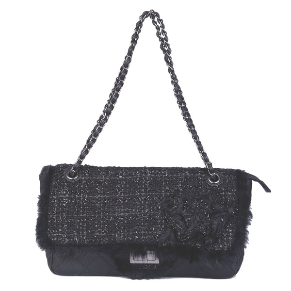 David Jones Tweed Quilted Handbag