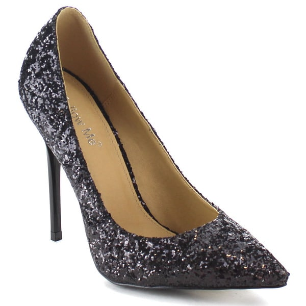 Beston Women's Sexy Stiletto Glitter Party Dress Pumps
