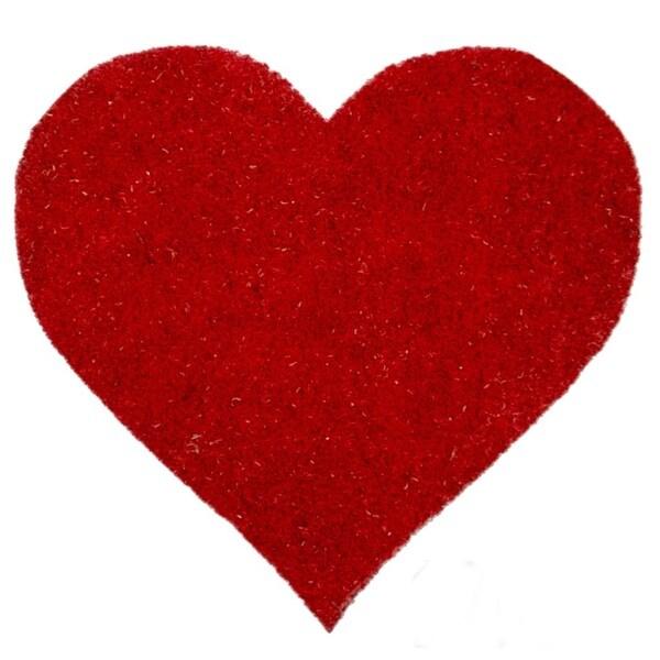 I Heart You Non Slip Coir Doormat 18022401 Overstock