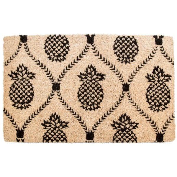 Pineapple Trellis Handwoven Coconut Fiber Doormat