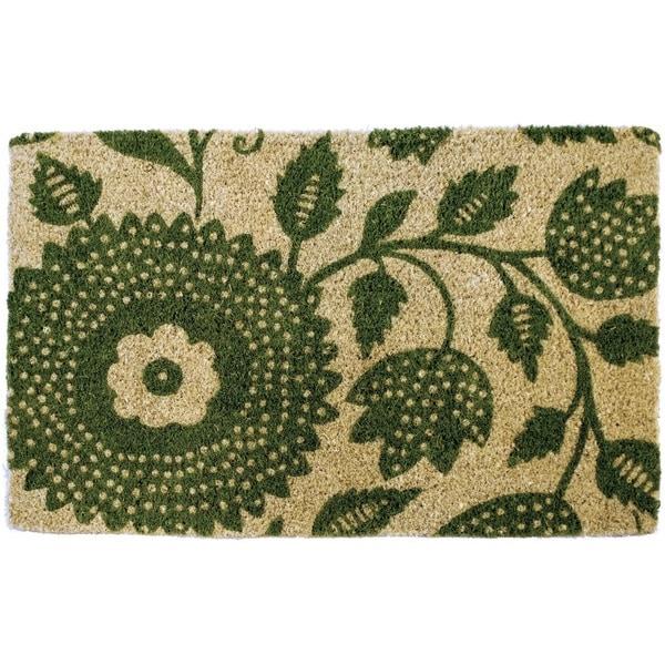 Penelope Floral Handwoven Coconut Fiber Doormat