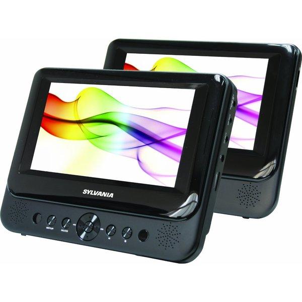 Sylvania Sdvd8738 7-inch Dual Screen Portable Dvd Player (Refurbished)