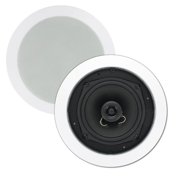 Theater Solutions TS50C In Ceiling 5.25-inch Surround Sound Home Theater Round Kevlar Speaker Pair