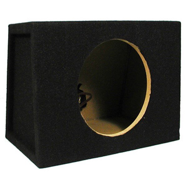 Single Car Black Subwoofer Box Sealed Automotive Enclosure for 8-Inch Woofer TR8S