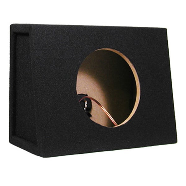 Single Car Truck Wedge Black Subwoofer Box Sealed Enclosure for 8-Inch Woofer TR8F