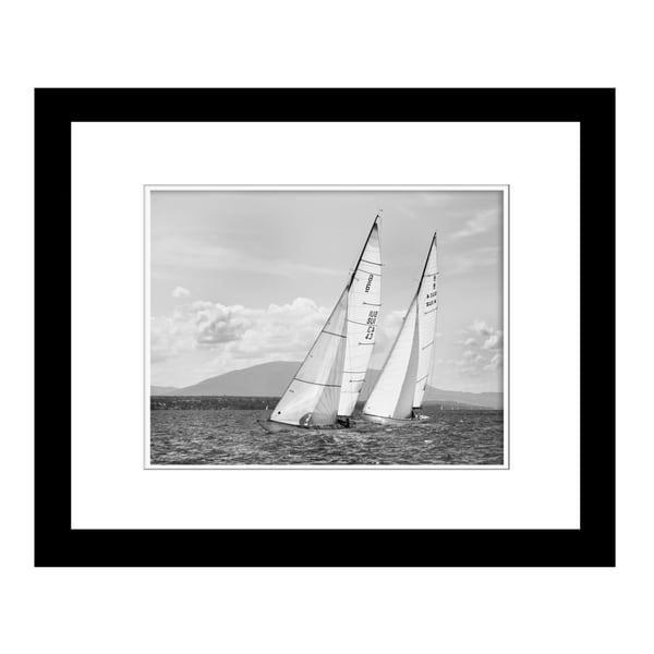 Prestige Art Studios Two by Sea by Xavier Framed Print