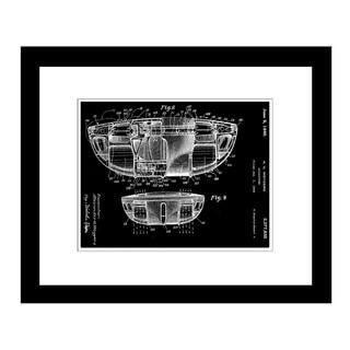 Prestige Art Studios Flying Saucer Patent Framed Print