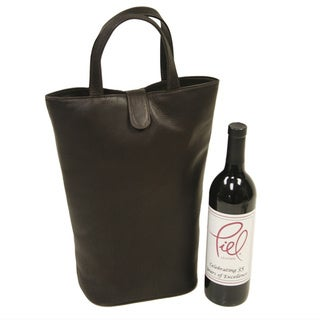 Piel Leather Double Wine Tote
