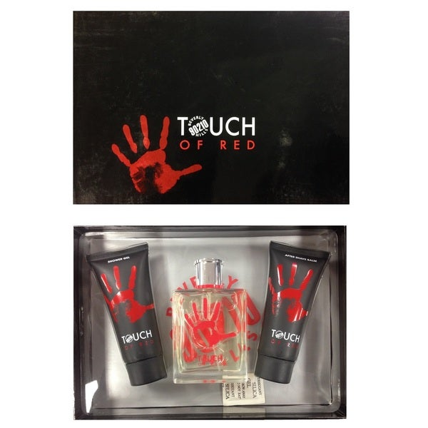 90210 Torand Touch of Red Men's 3-piece Gift Set