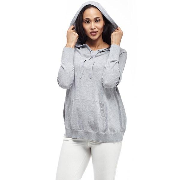 La Cera Women's Long-Sleeve Hooded Pullover