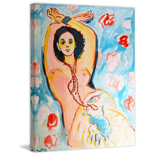 """Marmont Hill - """"Monika with Arms Overhead"""" Painting Print on Canvas"""