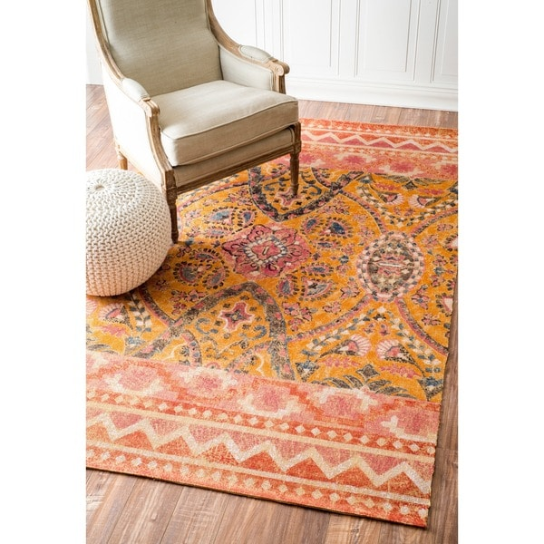 nuLOOM Arts & Crafts Suzanni Jute Rug (As Is Item)