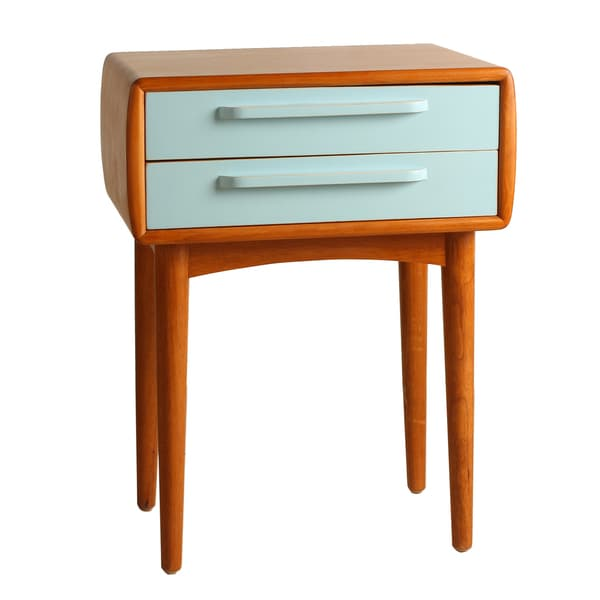 Amelia Double Drawer Walnut End Table