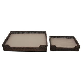 Christopher Knight Home Dogger Wicker Pet Bed (Set of 2)