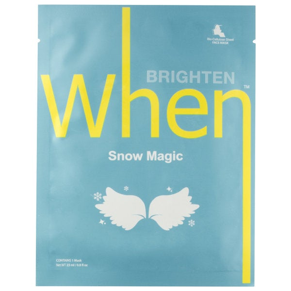 When Snow Magic Brightening Sheet Mask