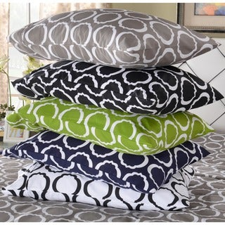 Cotton Blend Scroll Park Pillowcases (Set of 2)