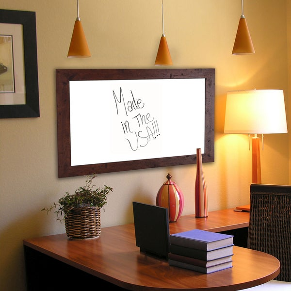 American Made Rayne Rustic Dark Walnut Dry Erase Board