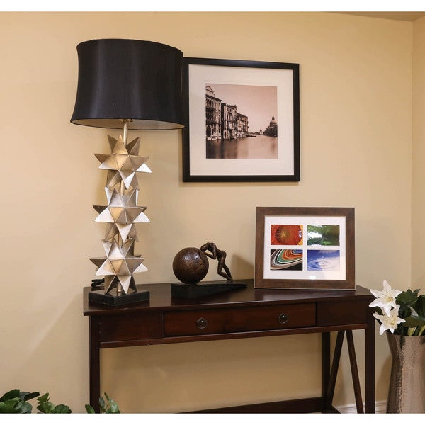 Bombay Outlet Silver Stacked Star Table Lamp