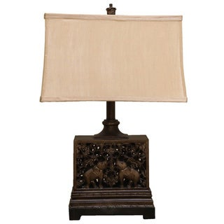 Bombay Outlet Aged Bronze Oriental Table Lamp