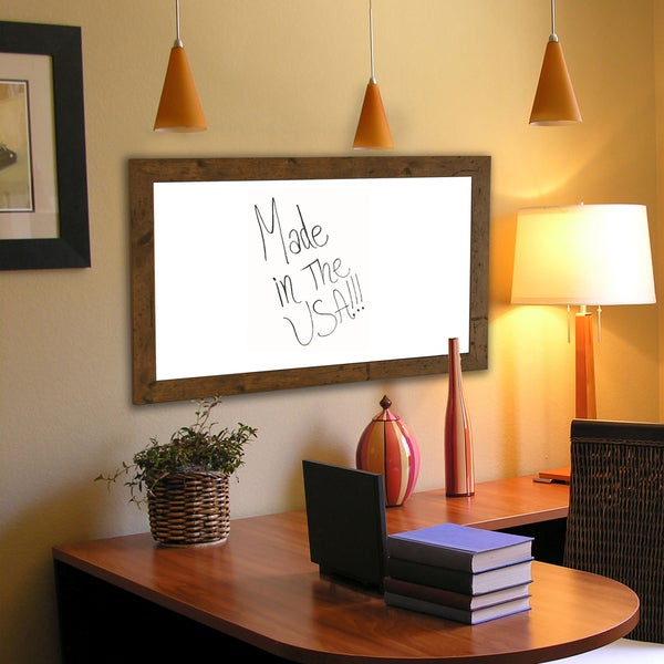 American Made Rayne Rustic Light Walnut Dry Erase Board