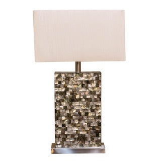 Bombay Outlet Seashell Mosaic Rectangular Table Lamp
