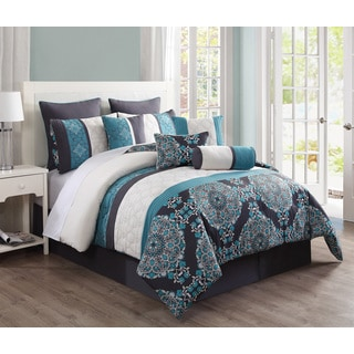 Justine Reversible 10-piece Comforter Set